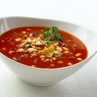 Spicy Tomato & Corn Soup .