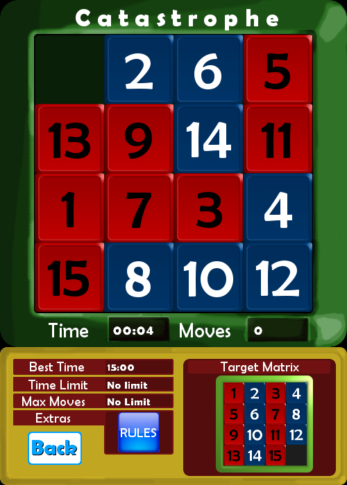 Catastrophe slide puzzle- screenshot