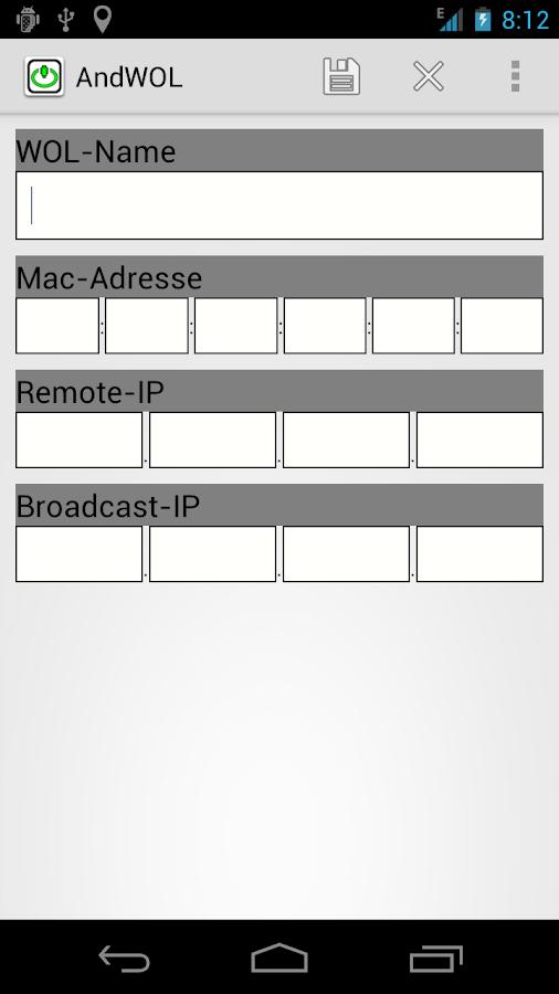 AndWOL - screenshot