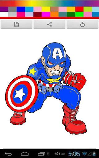 Coloring Captain American