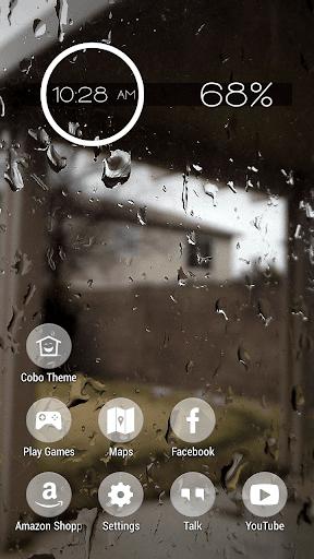 外面下著雨春季主題