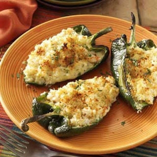 Shrimp-Stuffed Poblano Peppers.