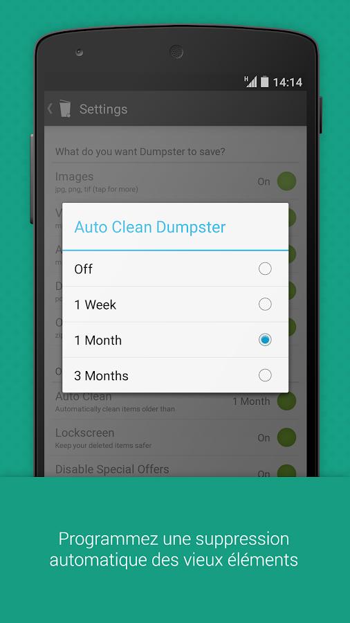 Dumpster Image & Vidéo Restore - screenshot