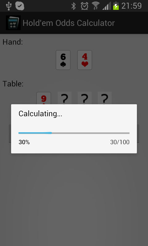 Odds Calculator- screenshot