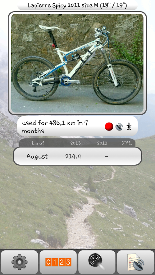 Bike Activity - screenshot