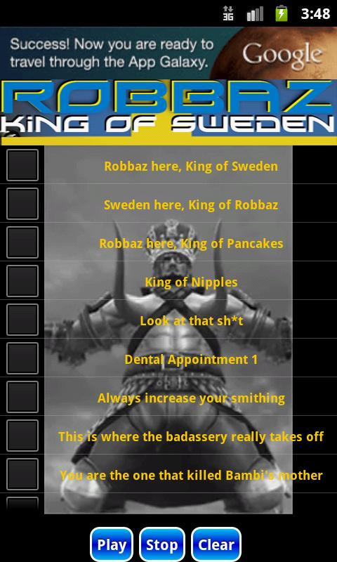 Robbaz Soundboard - screenshot