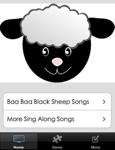 Baa Baa Black Sheep Poem Songs