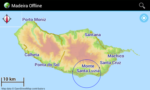 Offline Map Madeira Portugal
