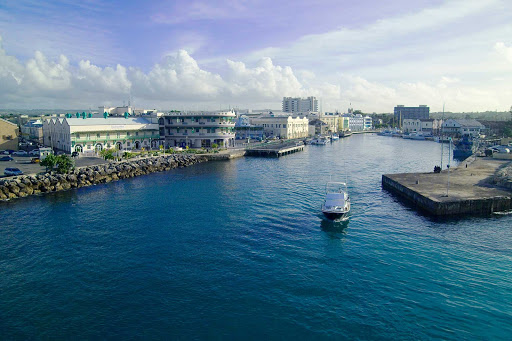 Bridgetown-harbor-Barbados - The harbor at Bridgetown, capital of Barbados.