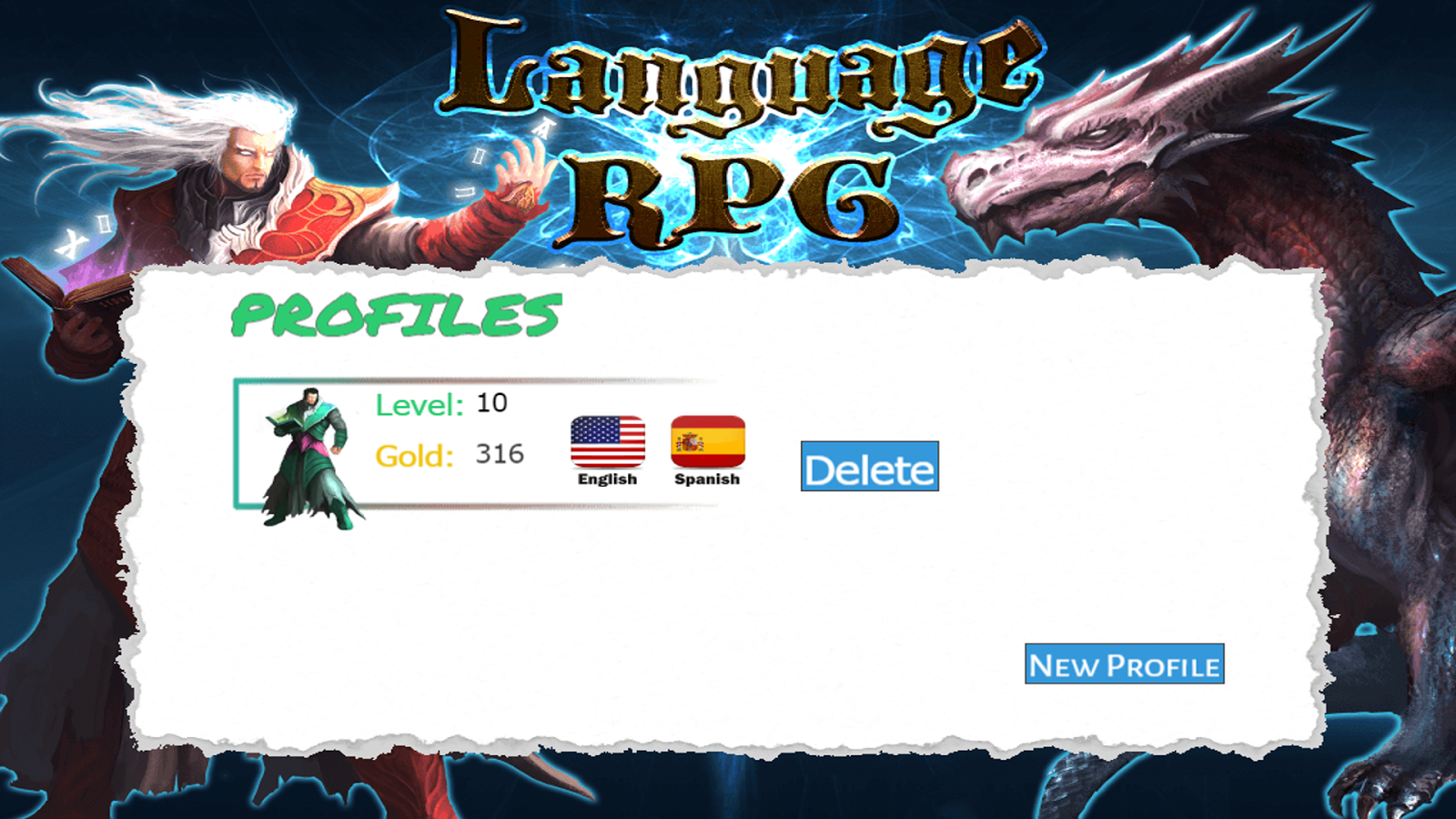 Learn Language Game RPG- screenshot