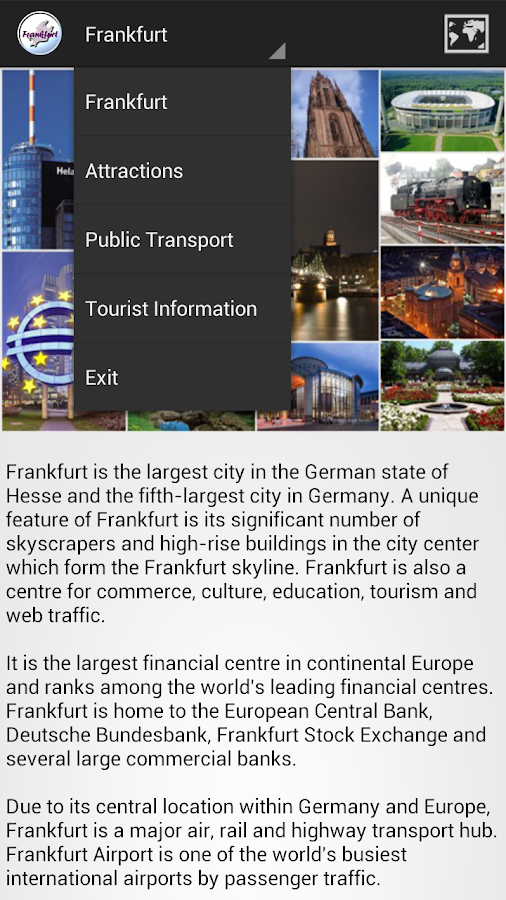Frankfurt City Guide- screenshot