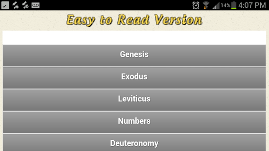 Easy To Read Bible - screenshot thumbnail