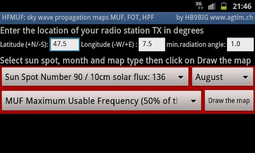 MyHF_Map HAM Radio  MUF maps- screenshot thumbnail