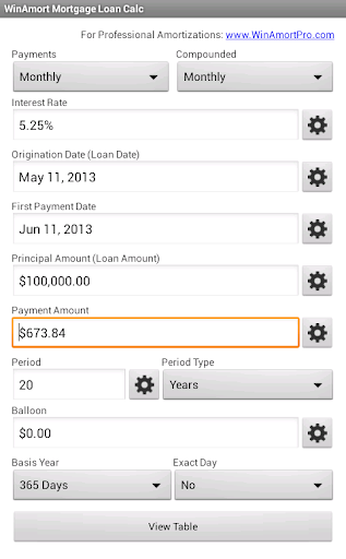 WinAmort Mortgage Loan Calc