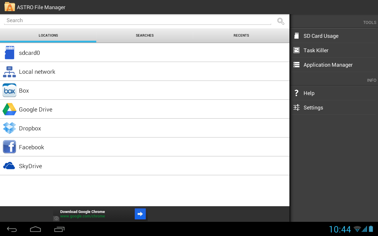 File Manager - ASTRO- screenshot