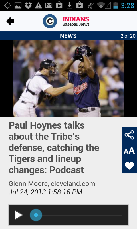 cleveland.com: Indians News - screenshot