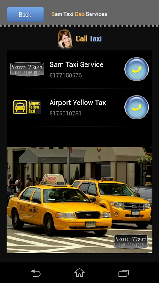 Sam Taxi Cab Service - screenshot