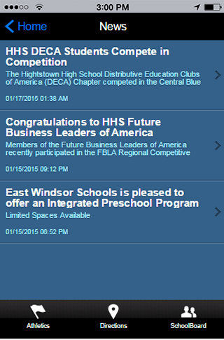 East Windsor Regional Schools- screenshot