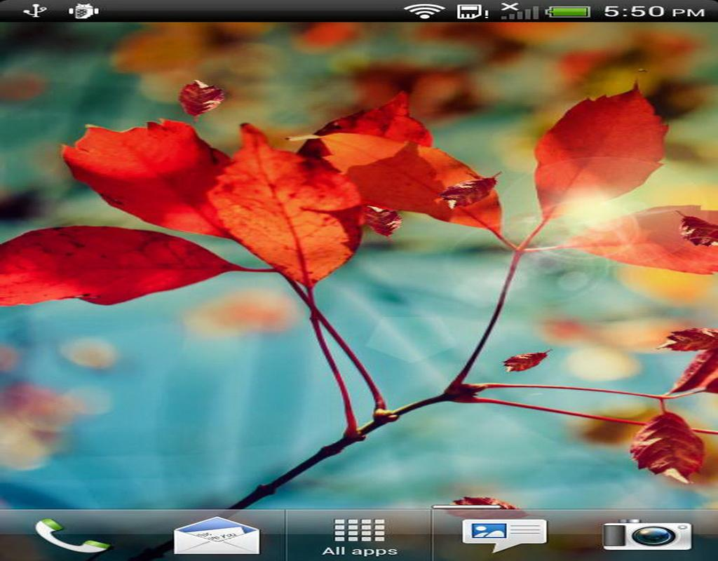 S4 Fly Leaf Live Wallpaper - screenshot