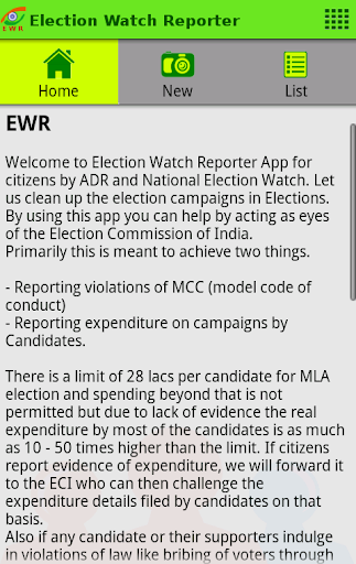 Election Watch Reporter EWR