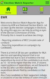 Election Watch Reporter (EWR)- screenshot thumbnail