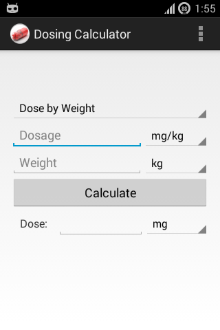 Dosing Calculator