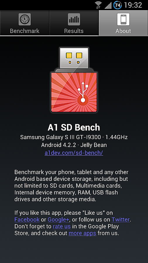 A1 SD Bench - screenshot