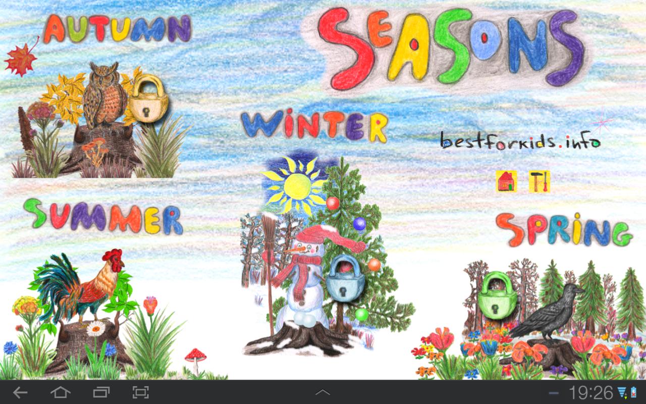 seasons chart for preschool