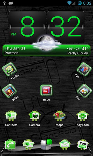 Green Android Next Launcher 3D