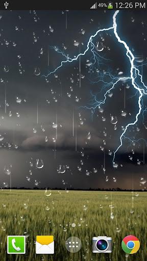 천둥 폭풍 라이브 배경 화면 무료