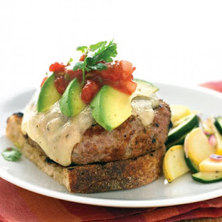 Tex-Mex Turkey Burgers with Zucchini Salad