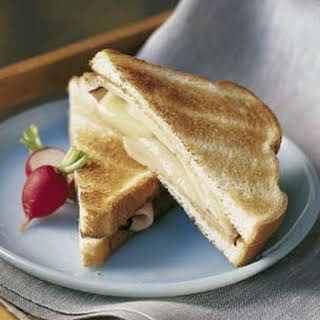 Toasted Ham and Cheese Sandwich.