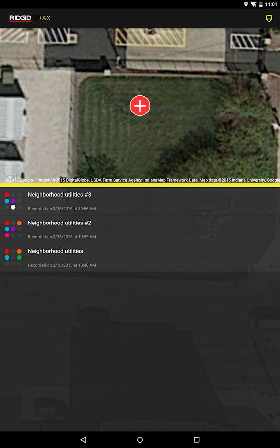 RIDGID® Trax- screenshot