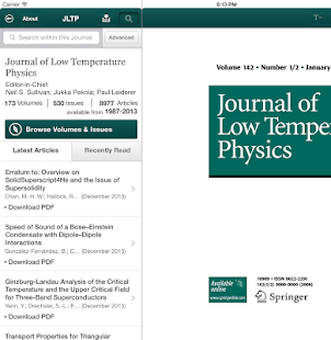 J of Low Temperature Physics - screenshot thumbnail