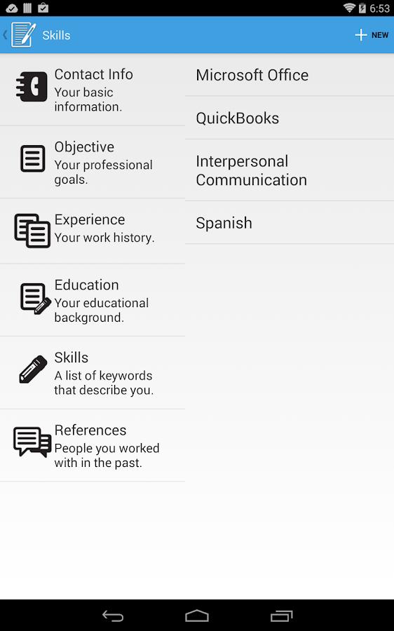 resume builder pro screenshot