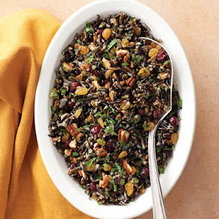 Wild-Rice Pilaf with Cranberries and Pecans.