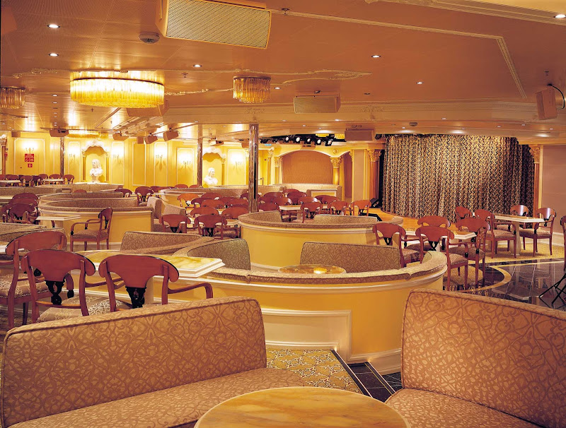 Plan on an evening of dancing or a cabaret show at Carnival Victory's Adriatic Lounge.