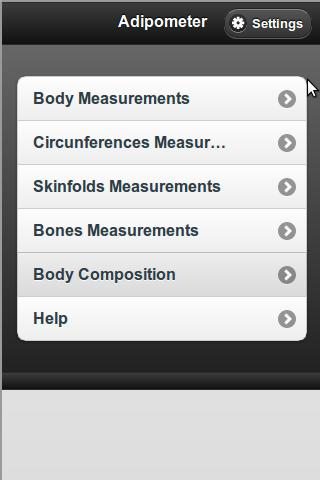 Adipometer Lite - screenshot