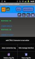 Screenshot of Bluetooth remote control