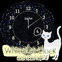 かわいいシロネコの時計ウィジェット icon