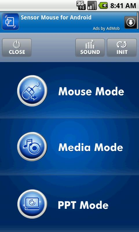 Sensor Mouse - screenshot