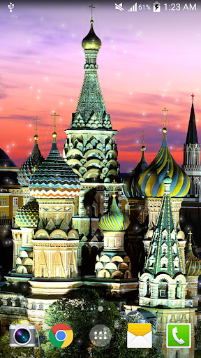 俄羅斯夜景現場動態桌布HD