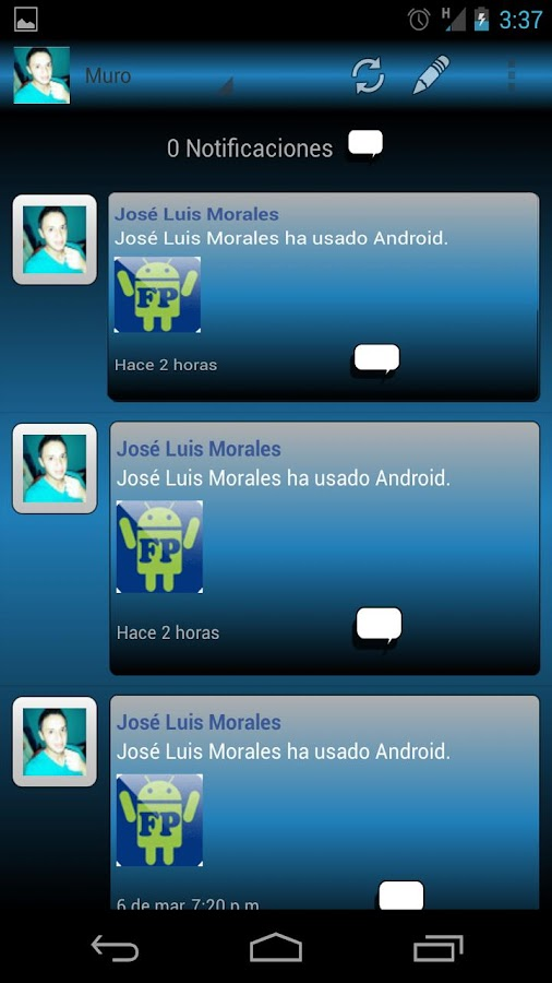 Huawei Evolucion FP - screenshot
