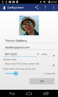 Instant Owner Info Widget - screenshot thumbnail
