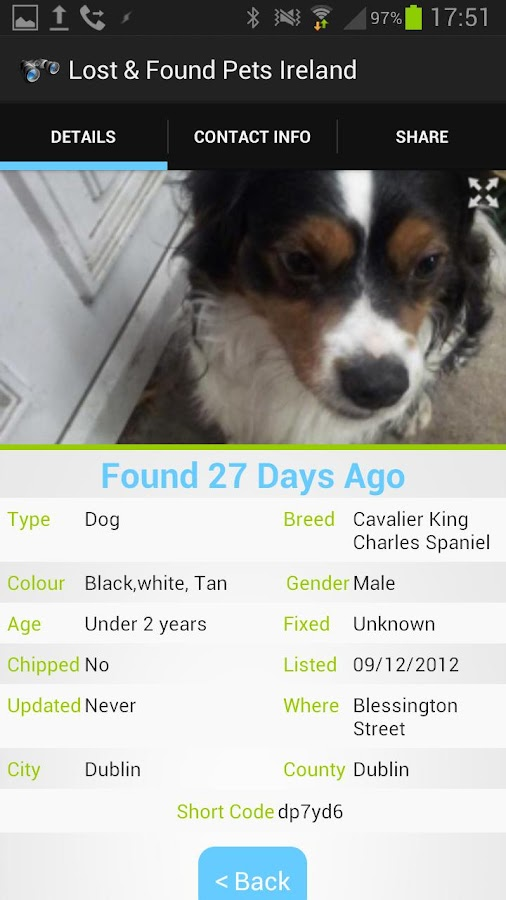 Lost & Found Pets Ireland - screenshot