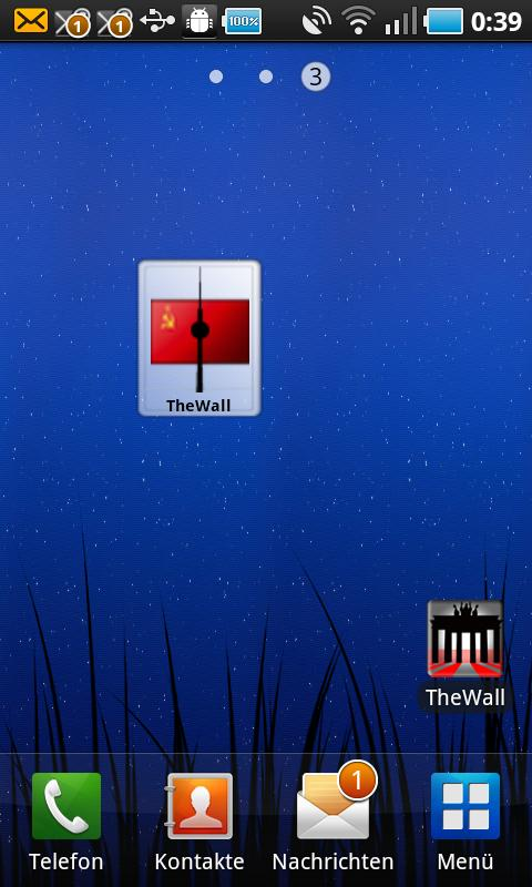The Wall Widget - screenshot