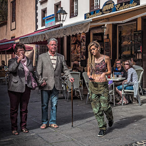 Look Where You Are Going by Jay Gould - People Street & Candids ( canary islands, color, tenerife, street, people, street photography )