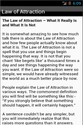 Law of Attraction and Wealth - screenshot