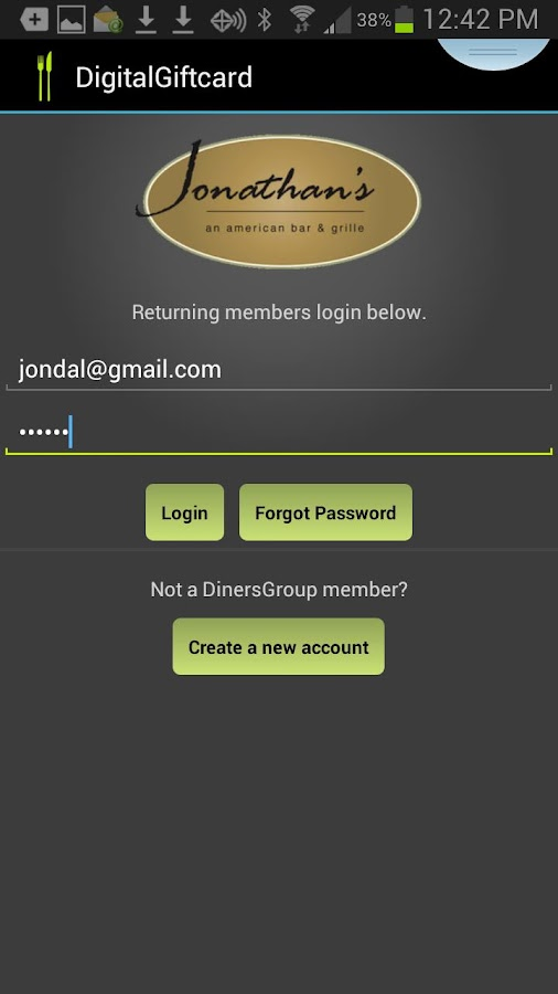 DinersGroup- screenshot