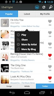 UberHype for Hype Machine- screenshot thumbnail